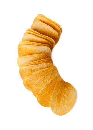 aliments: potato chips on a white background