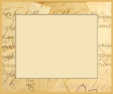 frame for an image from old letters, photo and envelopes