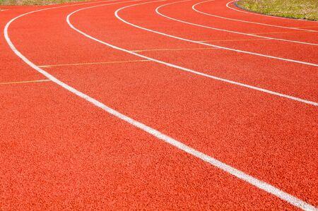 scheidingslijnen: scheidslijn atletiekbaan in het stadion
