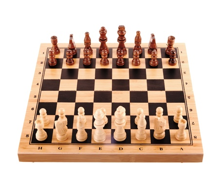 battling:  chess pieces on the board