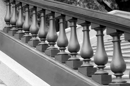 balustrade monochrome photo