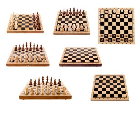 チェス ボードと分離部分のセット
