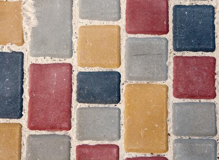 extending: color paving slabs extending Stock Photo