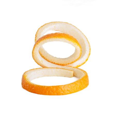 orange peel spiral isolated on white background Stock Photo