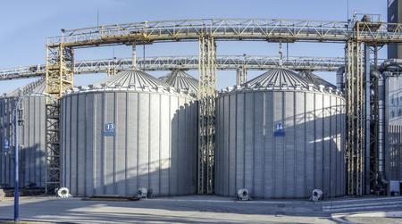 grain storage, steel silos, agricultural industry Фото со стока
