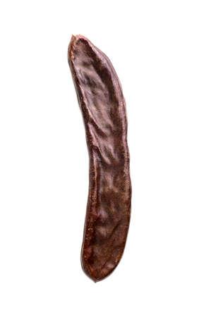 carob isolated on white close-up 版權商用圖片