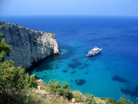 Miirorlike Meer auf Zakynthos Standard-Bild - 7730183