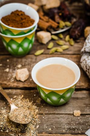 Arabian coffee with cardamon seeds - traditional coffee