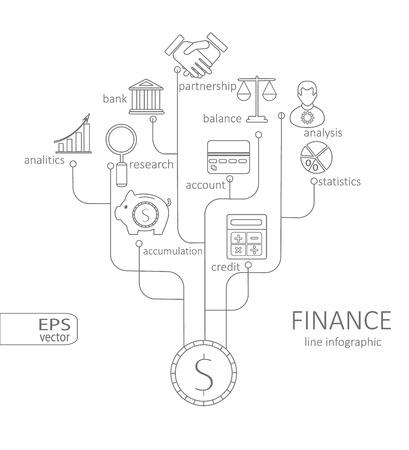 deposit slips: Banking and savings -finance infographic vector illustration