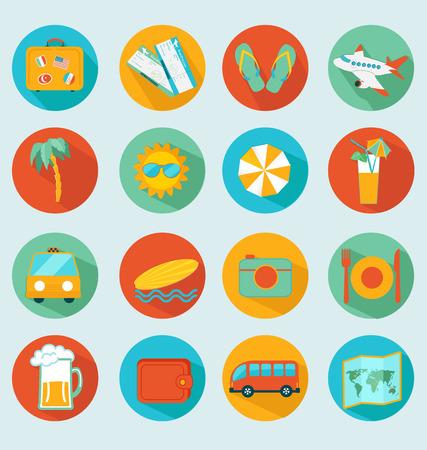 Reisen mobilen UI-Anwendungen flache Ikonen set.Vector.