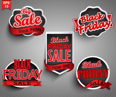 sell out: Black friday sale and diskount labels set.