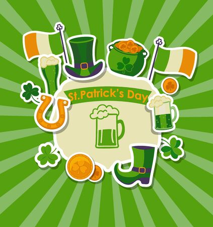 St Patricks day design poster, vector illustration. Illustration