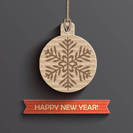 Creative happy new year design. Vector illustration.