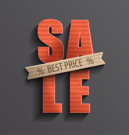 shopping store: Sale and discounts banner and poster. Vector illustration. Illustration