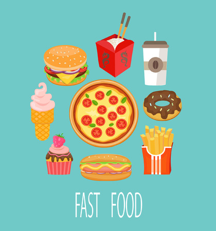 foodstuffs: Fast food concept and design. Vector illustration.