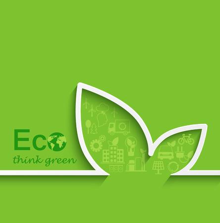 antipollution: Creative eco concept in flat design, vector.