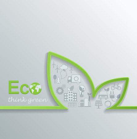 antipollution: Creative eco concept design Flat design Vector.