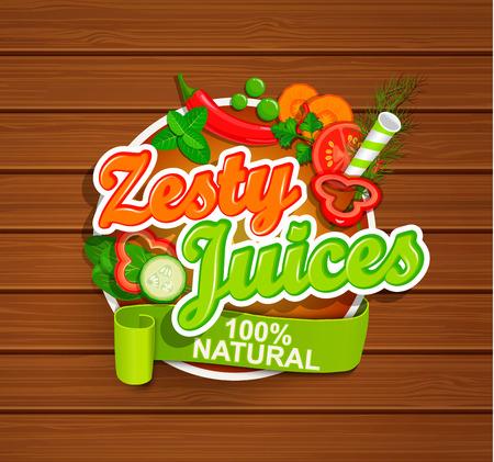 Zesty Juices symbol. Illustration
