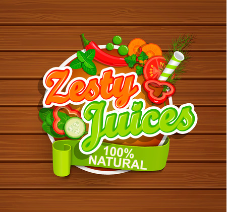 Zesty Juices symbol. Çizim
