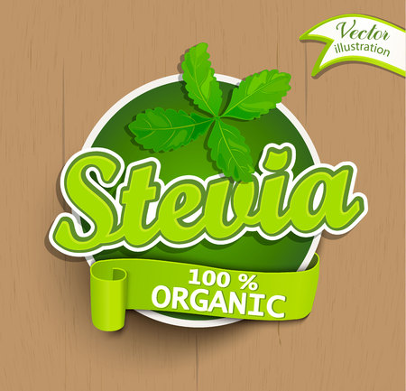 Stevia label, logo, sticker.