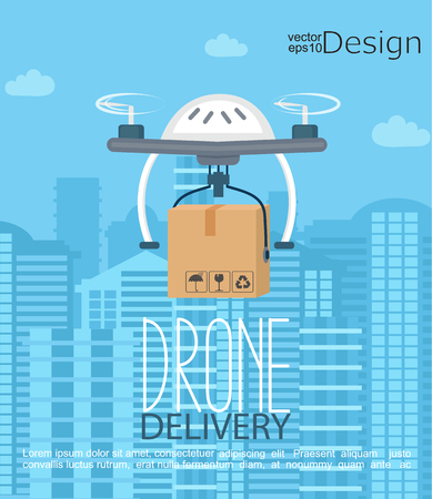 Concept of the delivery by the drone.