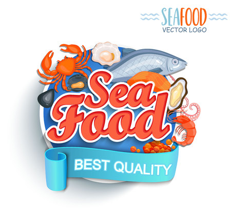 Seafood best quality logo.