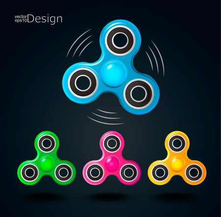 Fidget spinner icons.