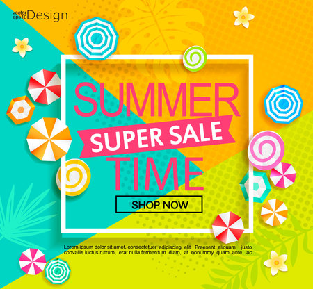 Summer super sale banner.
