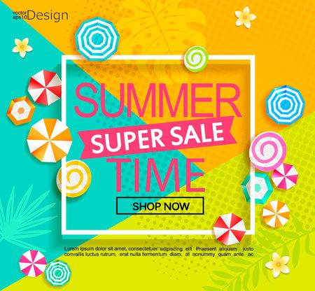 Summer super sale banner.