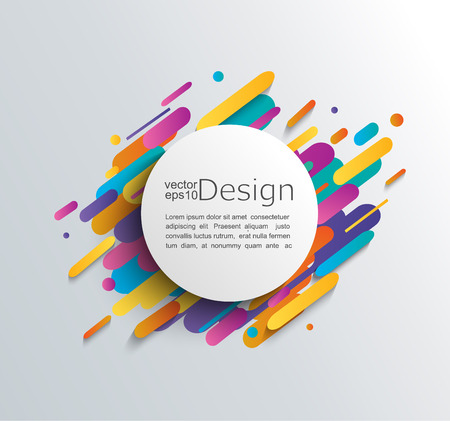 Colorful abstract template design. 免版税图像 - 88942826