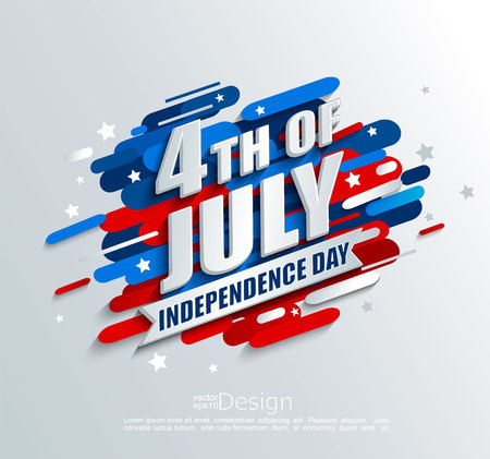 Banner for Independence day of the usa. Template for your design. greeting card, flyer, poster for 4th of July. Vector illustration. 일러스트