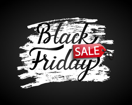 Black friday Sale banner on black background. Perfect template for flyers, discount cards, web, posters, ad, promotions, blogs and social media,marketing. Vector illustration.