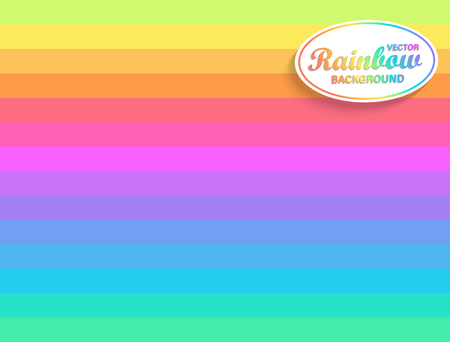 Rainbow horizontal background.Backdrop from Rainbows rays.Sunburst multicolor lines.Fun beams for you design,template for business,advertise,packaging.Geometric striped rainbow spectrum colors.Vector Illustration
