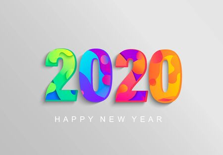 2020 New Year banner, emblem for your seasonal holidays flyers, greetings,invitations,christmas themed congratulations cards.