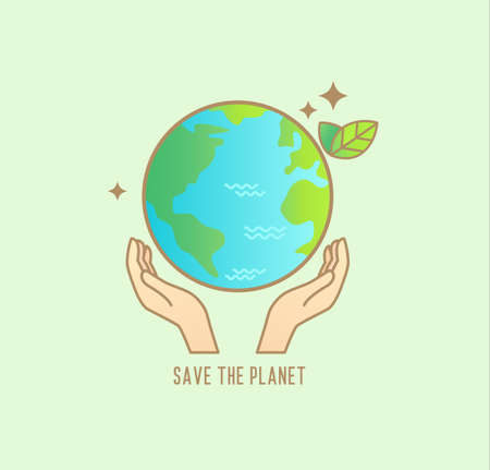 Save the planet banner for environment safety.