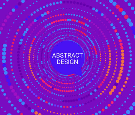 Abstract colorful dotted circles.