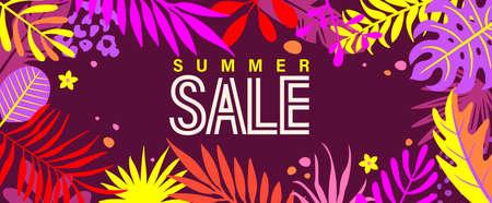 Summer sale banner for 2021 hot season.