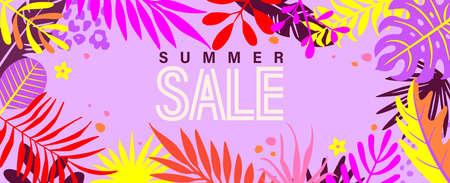 Summer bright sale banner for 2021 hot season.