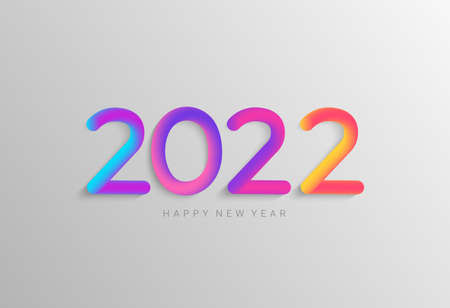 Bright banner for 2022 new year.