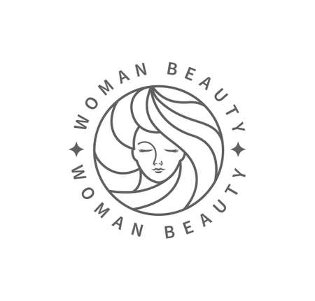 Woman beauty fashion logo.