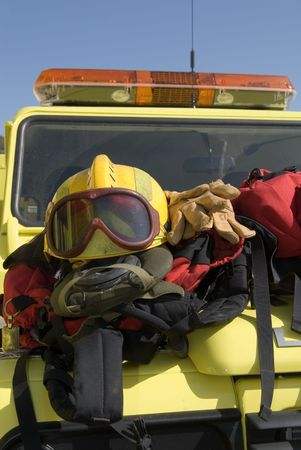 emergency vehicle: emergency vehicle with rescue equipment