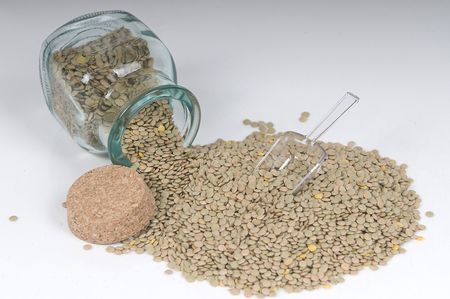 green lentil: Green Lentil in Jar