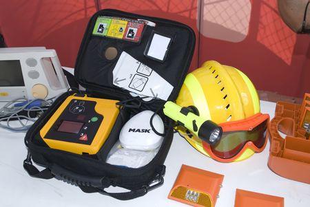 portable defibrillator for hearth emergencys Stock Photo - 3436716