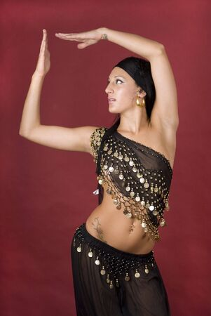 Beautiful arabian style dancer with black veil Stock Photo - 3743692