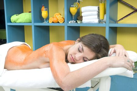 reliever: woman in a spa getting massage