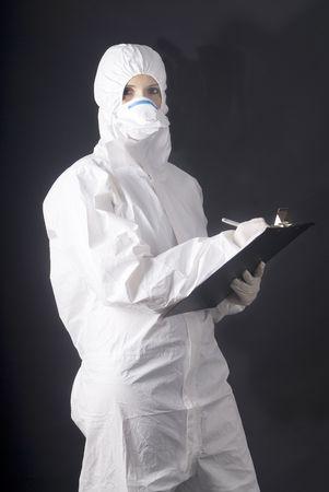 medical dress for biologic danger, swine or A flu