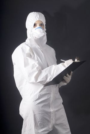 medical dress for biologic danger, swine or A flu
