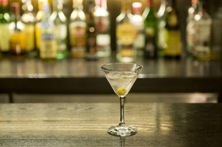 Martini drankje cocktail in een bar