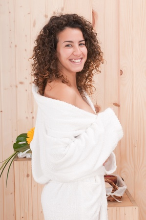 woman in spa center smiling Stock Photo - 9157960