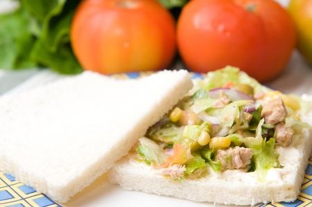 salad sandwich with tuna photo